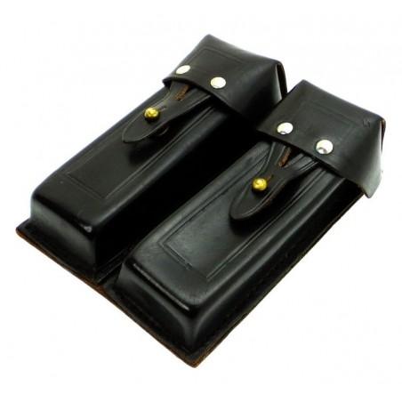 Ładownica na 4 magazynki do pistoletu Stieczkina (APS), skórzana, czarna