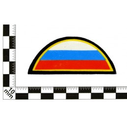 Patch on the sleeve - arc with flag, with velcro