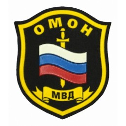 "Stripe ""OMON MVD"", on shoulder"