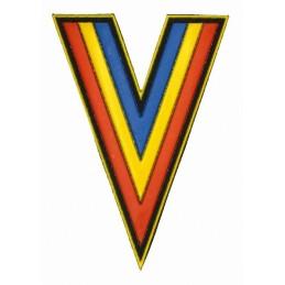 Naszywka-szewron Kozacy - niebiesko-żółto-czerwona