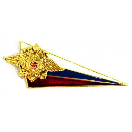 Metal chevron with flag & eagle, for Ministry of Internal Affairs (MVD) beret