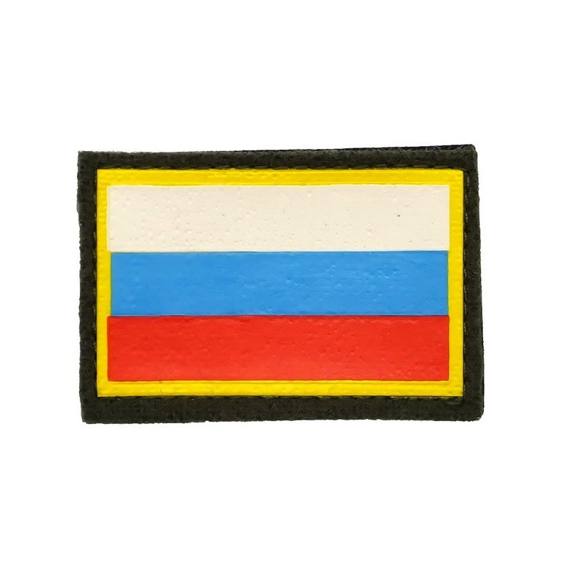 Naszywka na ramię - flaga Rosji, na rzepie
