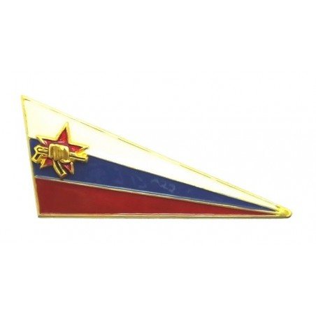 Chevron to the beret of Spetsnaz, on flag