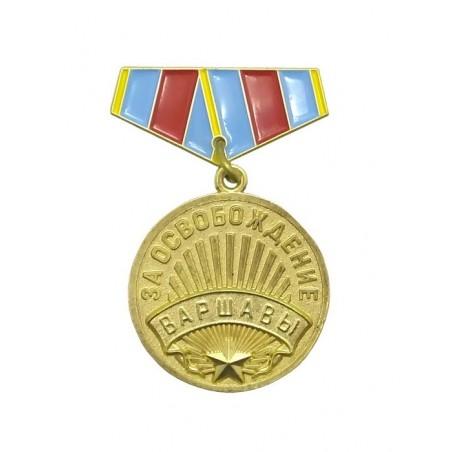 """Miniatura medalu """"Za Wyzwolenie Warszawy"""""""