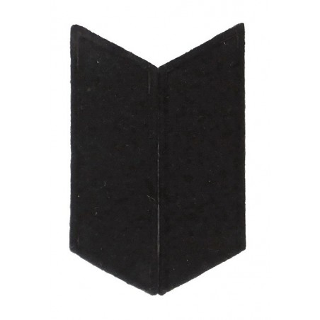 Collar tabs to the greatcoat - black