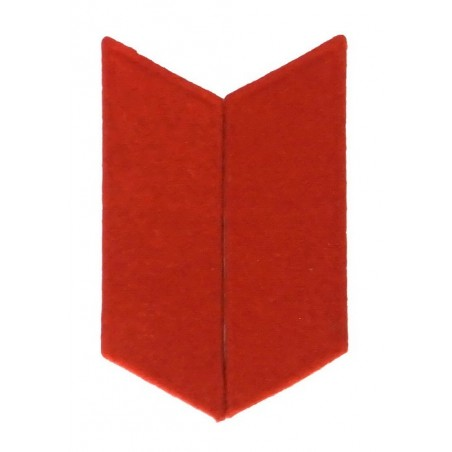 Collar tabs to the greatcoat - red