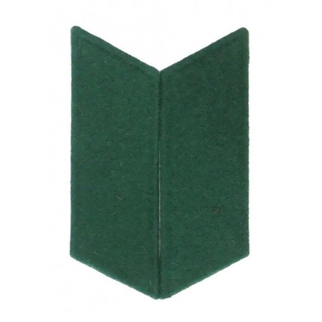Collar tabs to the greatcoat - green