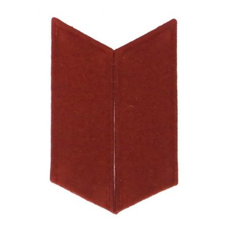 Collar tabs to the greatcoat - maroon