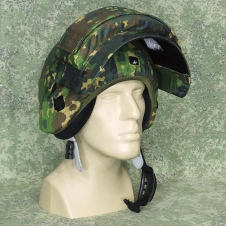 Cover for helmet K6-3 with visor, in Izlom camouflage