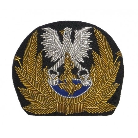 Polish Navy officers eagle on the cap, embroidered