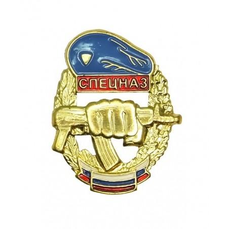 """Odznaka """"Specnaz"""" na beret WDW, z flagą"""