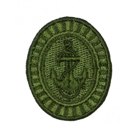 Kokarda Floty Wojennej - szeregowcy, polowa, zielona, haftowana