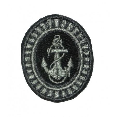 Kokarda Floty Wojennej - szeregowcy, polowa, szara, haftowana
