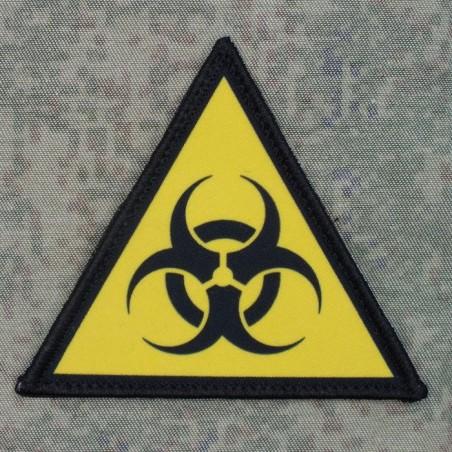 "RZ Patch with velcro ""Biohazard"" - black-yellow"