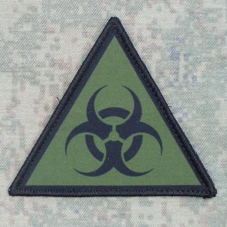 """RZ Naszywka z rzepem """"Biohazard"""" - czarno-zielona"""