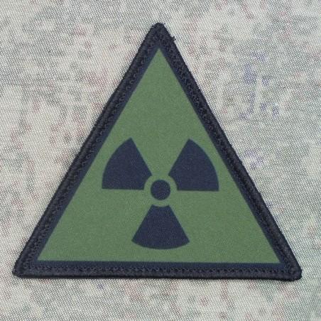 """RZ Naszywka z rzepem """"Radioaktywność"""" - czarno-zielona"""