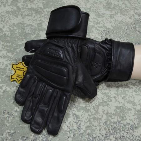 RZ Skórzane rękawiczki Stalkerskie, czarne