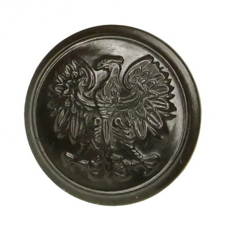 Large button for uniforms of Polish Army, plastic