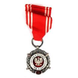 """Medal """"Siły Zbrojne w Służbie Ojczyzny - X"""" srebrny"""