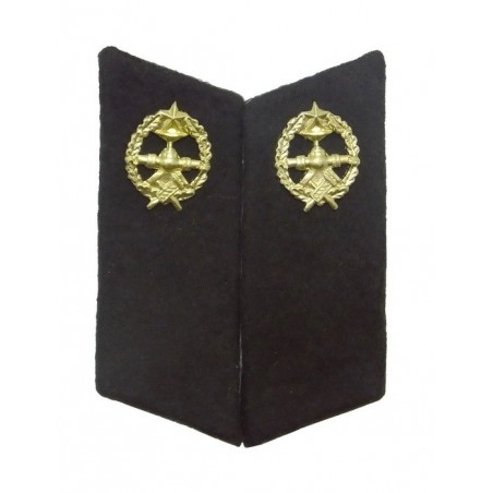 Collar tabs of Pipeline Troops for ordinary uniforms, with tabs