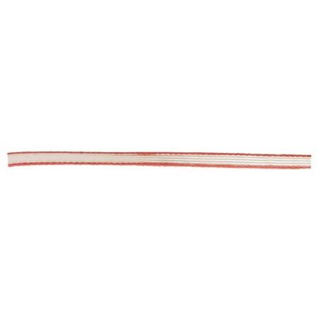 Taśma dystynkcyjna, 5mm, biało-czerwona