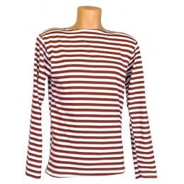 Tielniashka shirt, claret (krapova), cotton
