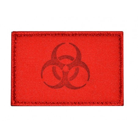 "Patch FC031 ""Biohazard - Keep distance"", red, with velcro"