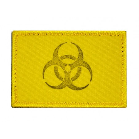 "Patch FC032 ""Biohazard - Small distance"", yellow, with velcro"