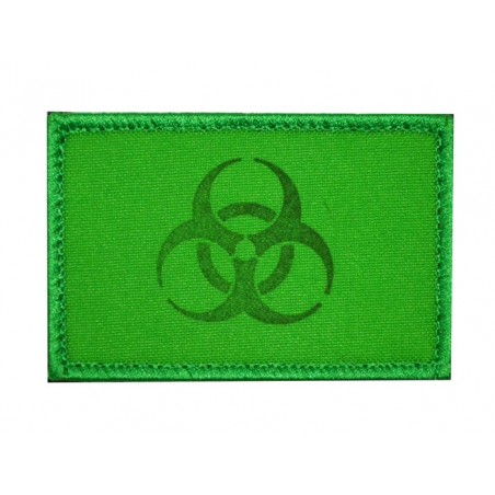 "Patch FC033 ""Biohazard - As before"", green, with velcro"