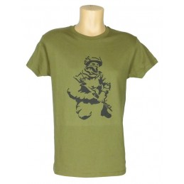 "T-shirt ""Polite People"", olive"