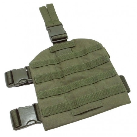 TI-P-NB-01 Thigh panel with MOLLE belts, olive