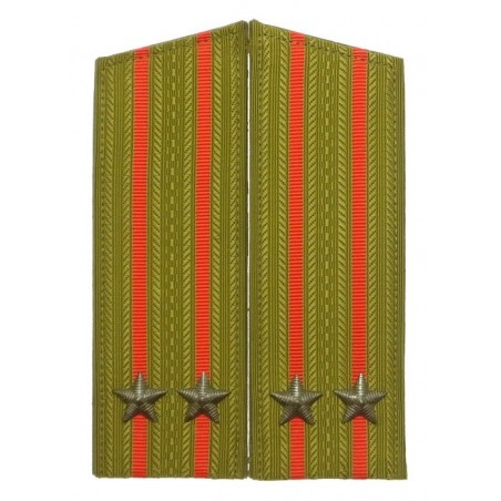 Epaulettes of the junior colonel of Ground Forces, for field uniform