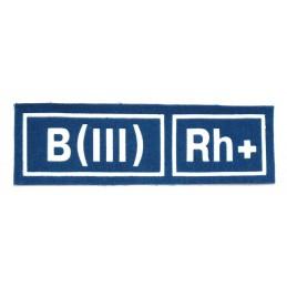 Naszywka B (III) Rh+ niebieska