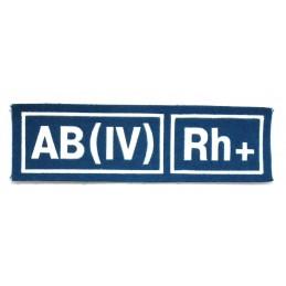 Naszywka AB (IV) Rh+ niebieska