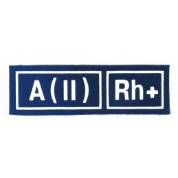 Naszywka A (II) Rh+ niebieska