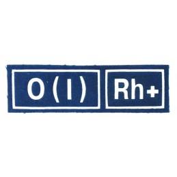 Naszywka 0 (I) Rh+ niebieska