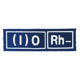 Naszywka 0 (I) Rh- niebieska