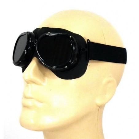 Safety goggles, dark lenses, with holder, officer model