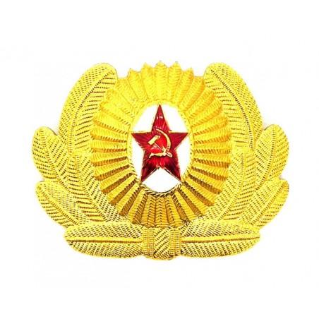 Kokarda z liśćmi na czapkę oficerów i podoficerów