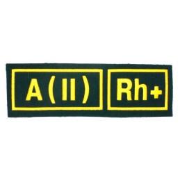 Naszywka A (II) Rh+ zielona