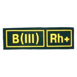 Naszywka B (III) Rh+ zielona