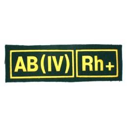 Naszywka AB (IV) Rh+ zielona