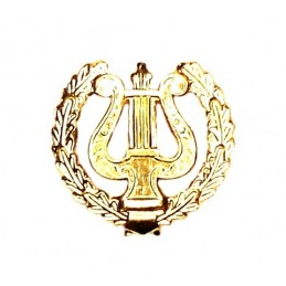 """Military Orchestra"" - branch insignia, modern, gold"